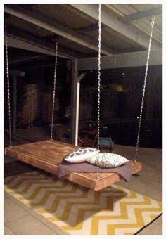 Made To Order Recycled Timber Pallet Outdoor Daybed/Swing in Home & Garden | eBay