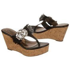 $68.99 CARLOS BY CARLOS SANTANA Sparkly Sandals Black Women`s Sandals class