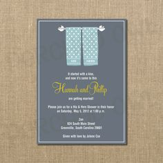 His and Hers Wedding Bridal Couples Shower Invitation. $12.00, via Etsy.