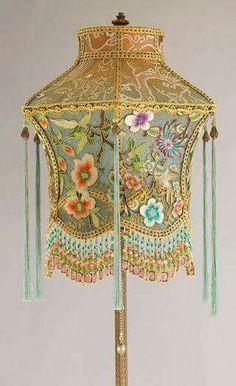 Victorian lamp w/beaded fringe shade http://laboheme.life