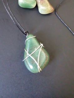 Aventurine stone pendant by LGdreams on Etsy