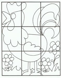 easy puzzle worksheet  |   Crafts and Worksheets for Preschool,Toddler and Kindergarten