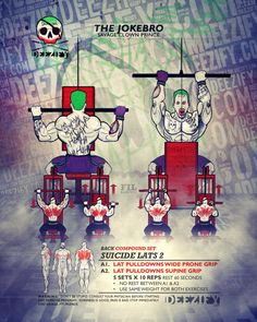 Suicide Lats - Crazy Superset To Blow Up Your Back #BackDay #joker #batman #gym #bodybuilding