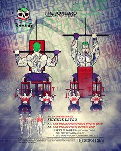 Suicide Lats - Crazy Superset To Blow Up Your Back #BackDay #joker #batman #gym #bodybuilding