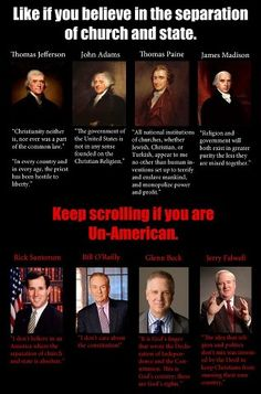 Founding Fathers and Separation of Church and State