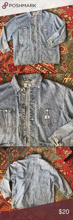 Vintage 80s Calvin Klein jean jacket Great vintage condition, light weight jacket. Calvin Klein Jackets & Coats
