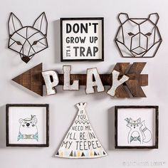 Don't grow up, it's a trap! Shop this #GalleryWall look via the link in our profile. #HobbyLobbyStyle