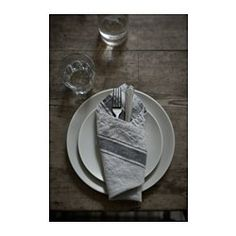 IKEA - VARDAGEN, Napkin, Cotton/linen blend with the softness of cotton and the matte luster and firmness of linen.