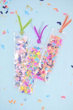 DIY Confetti Shaker Bookmarks