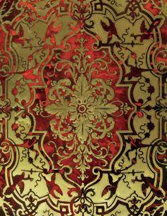 A Louis XIV Bureau Mazarin (desk - detail), tortoiseshell veneer decorated with copper inlay. Louis Xiv, Culture Of France, Mirror Crafts, Textile Pattern Design, Decoupage, Mirror Mosaic, Decorative Panels, Art Graphique, Paint Shop