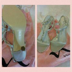 Nina Silver Sparkle Sandal Pumps