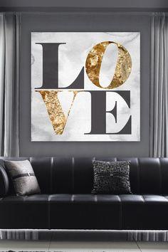 Oliver Gal Build on Love Stone Canvas Art on HauteLook