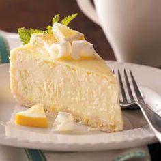 Luscious Lemon White Chocolate Cheesecake - Chocolate Recipes Corner
