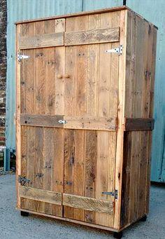 Pallet Wardrobe - Closet made from Pallets | 99 Pallets