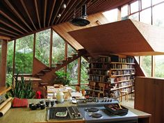 Architect John Lautner created an amazing woodenhome in the late 60's in the Santa Monica area that is still a timeless piece of architecture today.My m