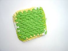 Lime Green Crochet Kitchen Scrubbie by mimiandcolette for $3.00