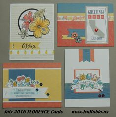 CTMH Florence cards by Jan Rubio