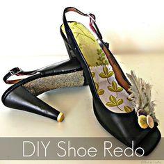 Snazzy shoe re-do. ~ Mod Podge Rocks!