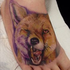 Fox by Scott Mustapic of Oddfellows Tattoo Collective, Leeds, UK.