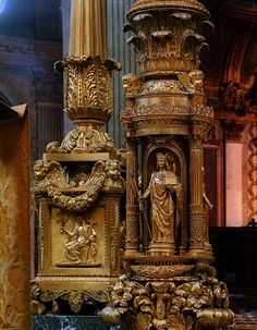 A detail of the right-hand side of the high alter inside Saint-Sulpice church Altar, Last Tango In Paris, Palais Royal, Shopping Street, Chapelle, Place Of Worship, Paris Street, Go Camping, City Lights