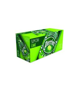 Perrier Sparkling Natural Mineral Water, Lime, 8.45-ounce Slim Cans (Pack of 10)