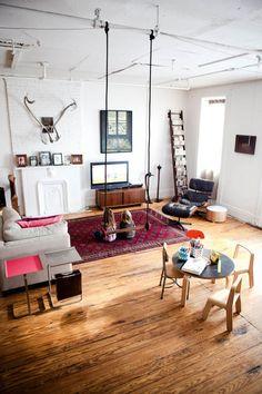 swing in the livingroom