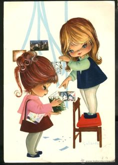 Small towns, traditional crafts, various topics… Find the postcards you were looking for! Vintage Postcards, Vintage Ads, Mod Girl, Tatty Teddy, Bird Cards, Cartoon Pics, Vintage Comics, Vintage Girls, Big Eyes