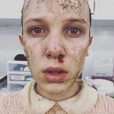 Millie Bobby Brown behind the scenes of stranger things