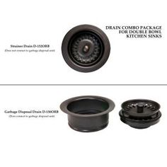 Premier Copper Products Drain Combination Package for Double Bowl Kitchen Sinks, Oil Rubbed Bronze DC-1ORB at The Home Depot - Mobile