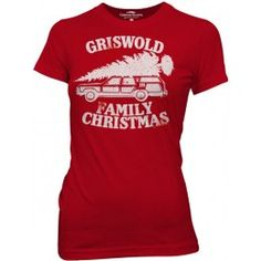 Christmas Vacation Griswold Family Christmas Red Juniors T-shirt  $19.95