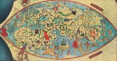 """The """"Genoese map"""" is a world map from an unkown Italian cartographer made in 1457."""