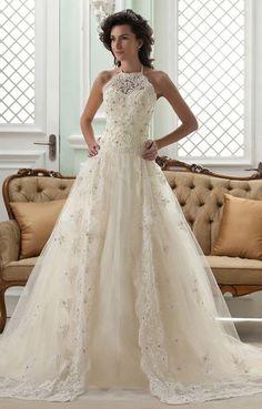 Perfect wedding dress for the fall bride. #MyVSFallEdit
