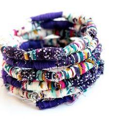 Tutorial: Scrap tessuto braccialetto di perline