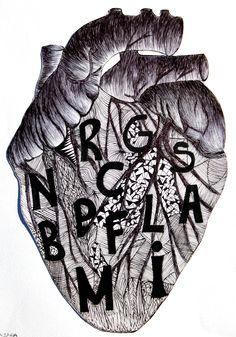 Rielaborazioni creative con teschio e cuore. Allieva Rebecca Vecoli 2B. A.S.2015/16 Liceo Artistico Stagio Stagi Pietrasanta