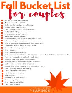 """Discover 30 NEW Fall Bucket List Ideas That Will Change Your Date Night - - """"Sponsored post by Mirum. All opinions are my own."""" Get unique and fun ideas on what to do this fall for date night. Find free date night ideas and fun ideas as well!"""