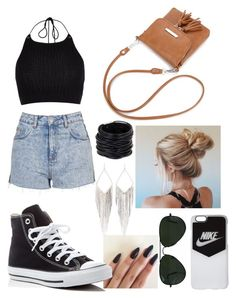 """""""Summer carnival"""" by scasey-2 ❤ liked on Polyvore featuring River Island, Topshop, Converse, Ray-Ban, NIKE, Saachi and Jules Smith"""