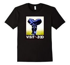 Vintage Art Shirts: Elephant Visit the Zoo Stylized Poster Art. Graphic Tee Shirt features a beautiful Retro, Historic Americana, WPA Poster of an Elephant. Federal Art Project. USA 1930's Artwork. Indy, Original, authentic, trendy, indy Graphic Design created in our family run studio in Austin TX. Art you can wear. Men's, Boy's, Women's, Girl's, Adult, Child, Fashion, Casual Wear, Outfit,  http://amzn.to/2edU86O