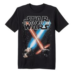 Boys 8-20 Star Wars: Episode VII The Force Awakens Glow-in-the-Dark Battle Sabers Tee, Boy's, Size: