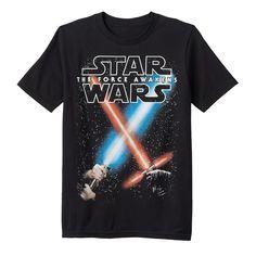 Boys 8-20 Star Wars: Episode VII The Force Awakens Glow-in-the-Dark Battle Sabers Tee, Boy's, Size: