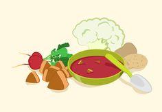 Papinha de carne, beterraba, batata e couve-flor