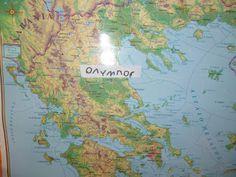 Μικρό Νηπιαγωγείο - 1/θ Νηπιαγωγείο Μικρόπολης Ν. Δράμας: ΟΙ 12 ΘΕΟΙ ΤΟΥ ΟΛΥΜΠΟΥ Diagram, Map, World, Location Map, Maps, The World