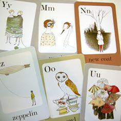 Julie Morstad's alphabet cards. Strange yet beautiful.