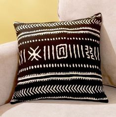 african MARKET decorations | Black and Natural Tribal Print Pillow for $15: The fabric on this ...