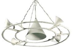 Giacometti chandelier in plaster and metal.