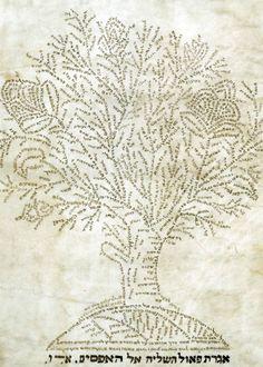 speciesbarocus: L'Evangile de Matthieu, en hébreu (18ème siècle) [x] Le présent manuscrit se distingue des autres exemples connus, en ce qu'il est en défilement format, une forme habituellement réservé aux seuls les Écritures hébraïques les plus sacrés.  Il conclut avec un arbre de micrographie, exécuté dans la tradition juive, formé des mots du texte de l'épître de Paul aux Ephésiens, ...réépinglé par Maurie Daboux .•*`*•. ❥