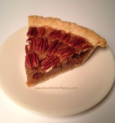 Never Better Bakery's piece of Pecan Pie. Made with our homemade flaky crust and fresh churned butter.