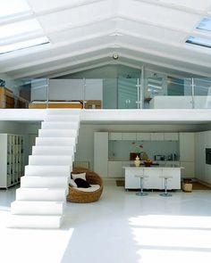 White loft living