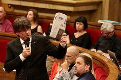 """President Puigdemont: """"L'1 d'octubre posarem urnes i paperetes, malgrat els espanta funcionaris de l'Estat"""""""