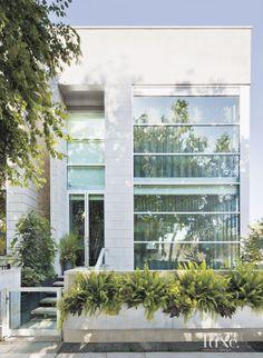 modern white limestone exterior