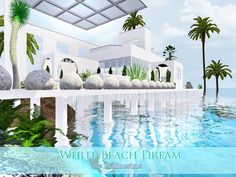 White Beach Dream house by Pralinesims - Sims 3 Downloads CC Caboodle Check more at http://customcontentcaboodle.com/white-beach-dream-house-by-pralinesims/